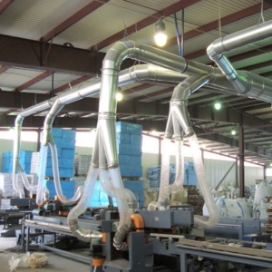 Воздуховоды гибкие полиуретановые для аспирации d 40-300 мм
